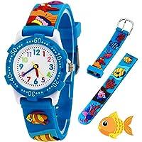 Relojes analógicos para niños Impermeables, Reloj de Pulsera