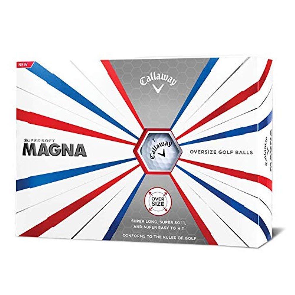Callaway Golf Supersoft Magna Golf Balls, (One Dozen), White by Callaway