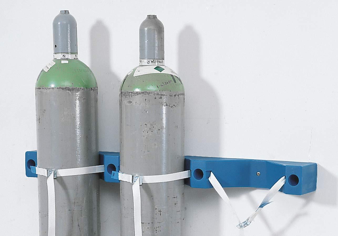 Soporte de pared para bombona de gas WH-P de polietileno (PE), para 3 botellas con máx. Diámetro: 320 mm.