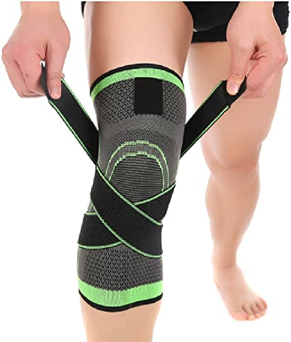 Fine 3D Weaving Knee Brace for Men Women Compression Fit Support for Joint Pain and Arthritis Relief Improved Circulation Compression Wear Breathable Running Support Pad