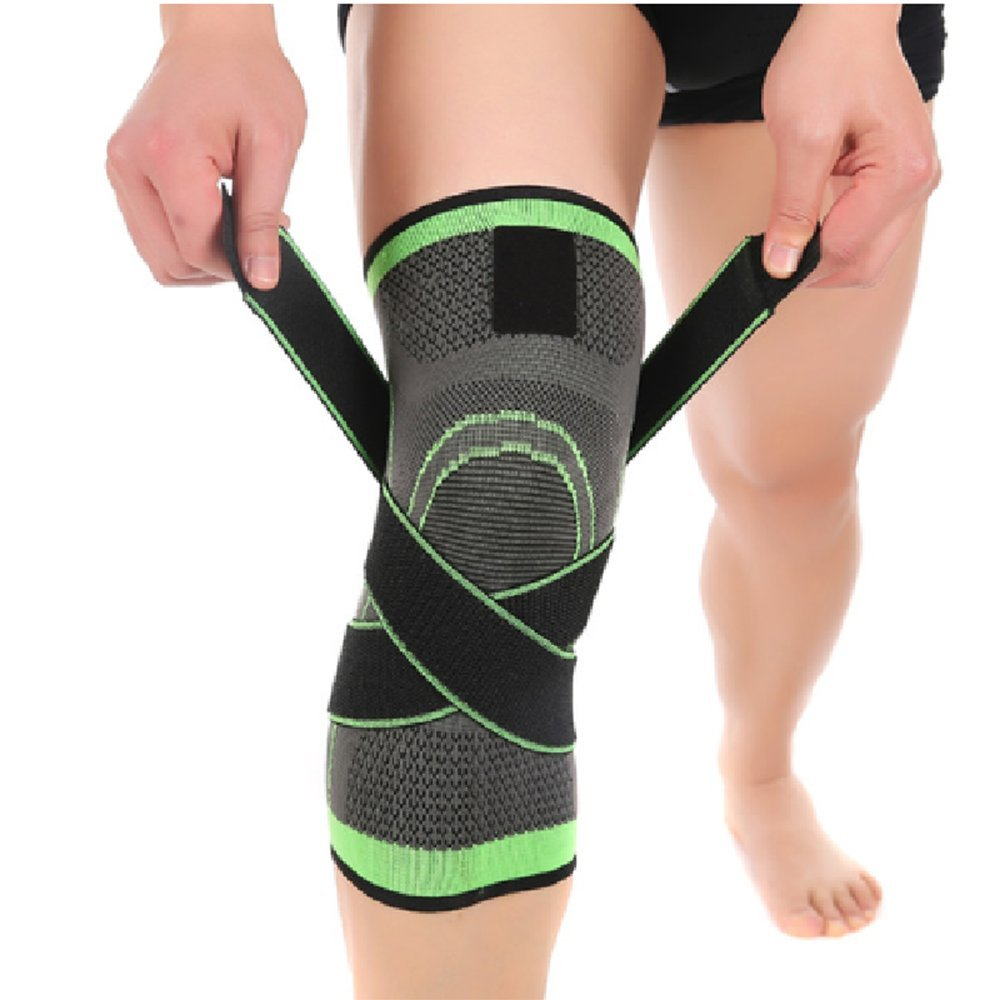 3d7404b965 Glumes 1Pcs Knee Brace Support,Knee Compression Sleeve,Adjustable Knee  Protector with Pressure Strap for  Sports,Running,Jogging,Biking,Basketball,Joint Pain ...