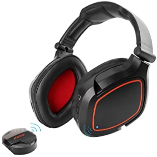 HUHD 2.4GHz USB Optical Wireless Gaming Headset for Nintendo Switch PS4 PC Computer 7.1 Surround Sound Game Headphone with Detachable Mic