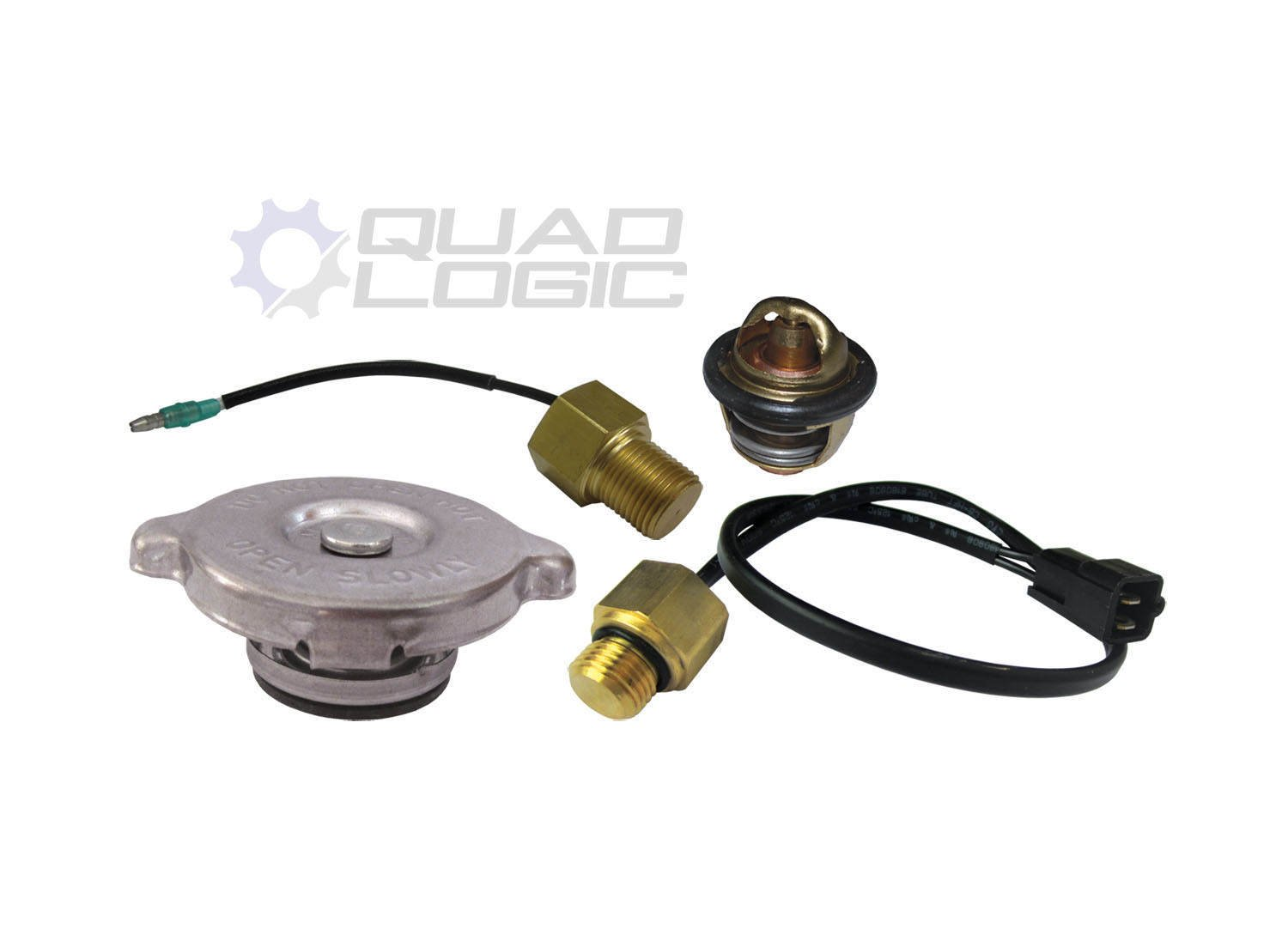 Polaris Sportsman 500 (2000-04) Cooling System Repair Thermostat Sensors Rad Cap Quad Logic
