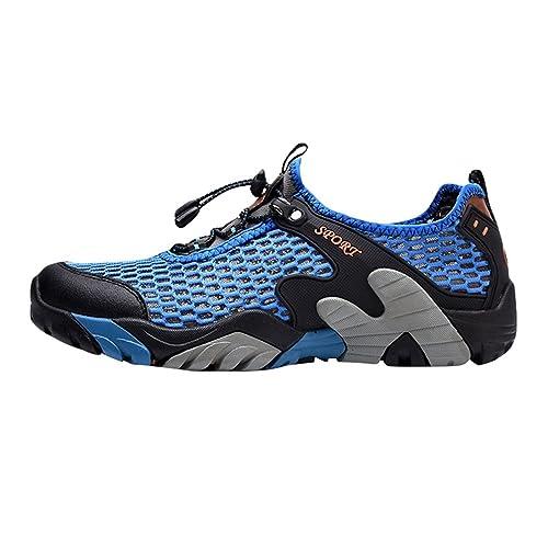 Kairuun Hombres Zapatos de Deporte Al Aire Libre para Caminar Secado Rápido Malla Ligero Zapatillas de Agua: Amazon.es: Zapatos y complementos