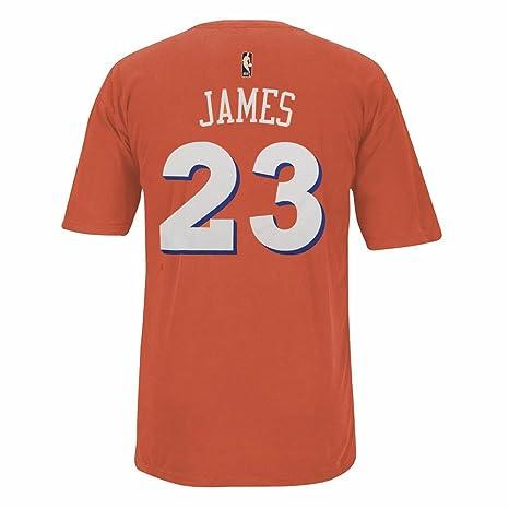 c093b4e3a43 LeBron James Cleveland Cavaliers NBA Adidas Men Orange Player Name & Number  Pigment Dye Jersey T