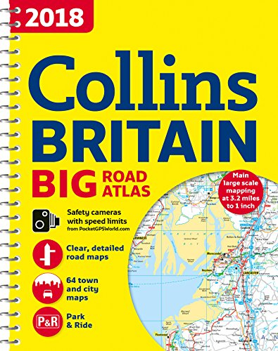2018 Collins Britain Big Road - Collections Atlas Uk
