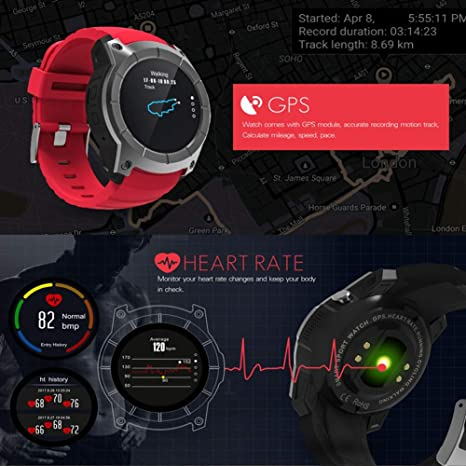 Amazon.com: QQZD Smart Watch S958 Heart Rate Real-time ...