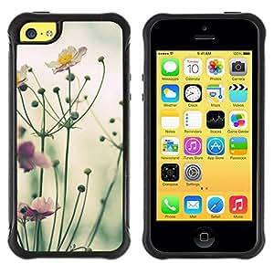Paccase / Suave TPU GEL Caso Carcasa de Protección Funda para - Yellow Purple Green Nature Field Summer - Apple Iphone 5C