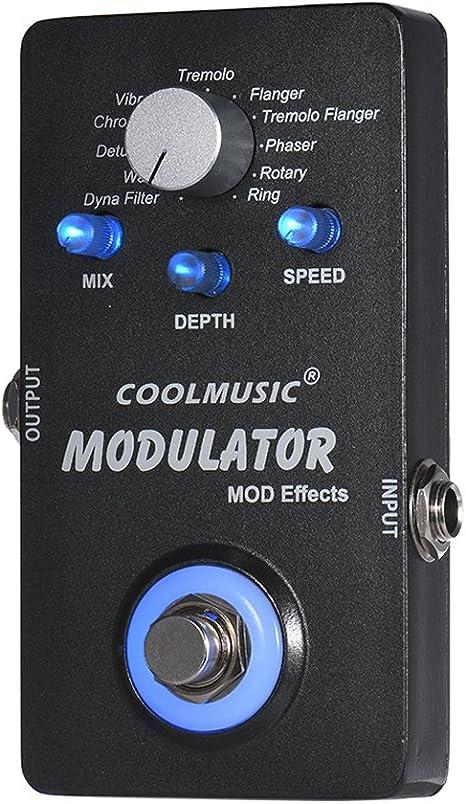 ammoon Guitarra Eléctrica modulador digital Pedal Efectos con 11 ...