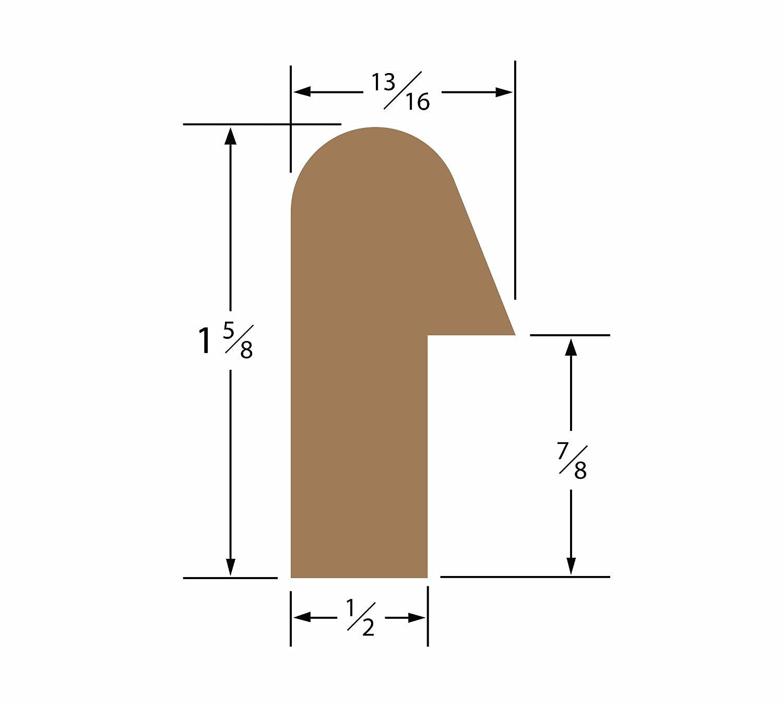 納得できる割引 SeaTeak 60831 Rail Molding 1-.63in.x 1.19in.Straight Length   B0042A0KJU, カスタムショップ ダウンロー 54346f0e