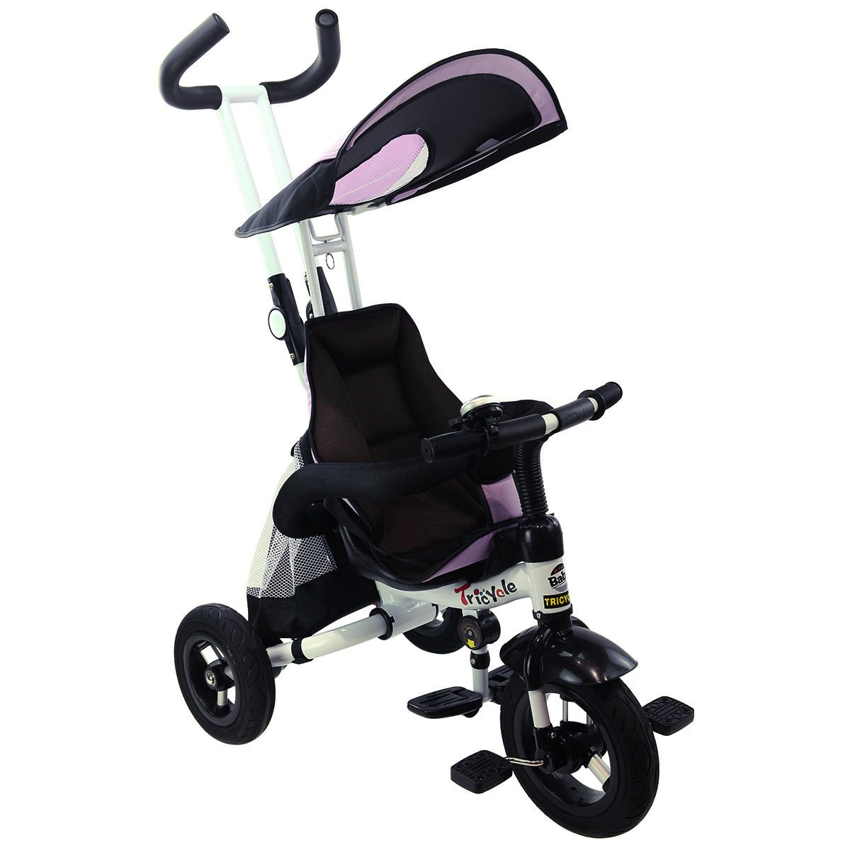 4-In-1 Kids Baby Stroller Tricycle Detachable Learning Toy Bike w/ Canopy Bag + FREE E - Book