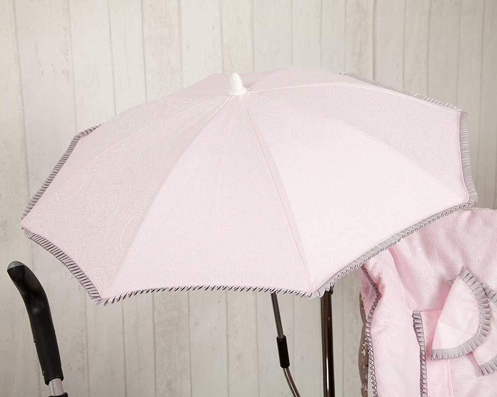 color rosa Sombrilla para silla de paseo Babyline Bomb/ón