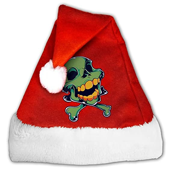 sara nell nightmare before christmas skull unisex santa hat christmas hat for adults and kids - Nightmare Before Christmas Santa Hat