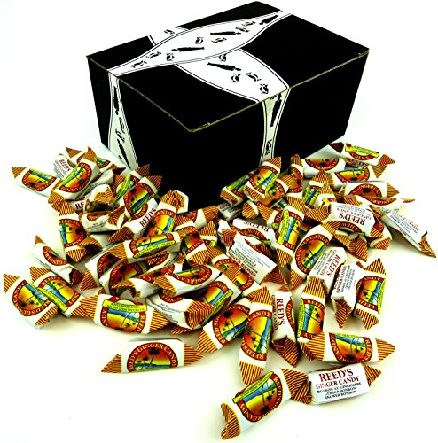 Reed's Original Ginger Candy Chews, 1 lb Bag in a BlackTie B