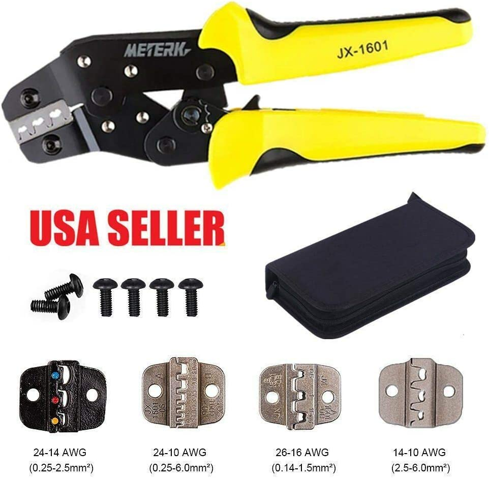New Insulated Cable Connectors Terminal Ratchet Crimping Wire Crimper Plier Tool&Kit 617ot2e2BF-L