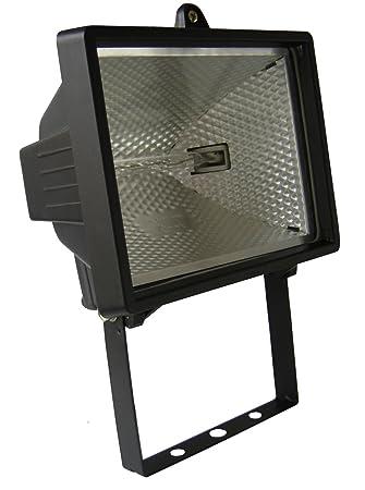 Enexo - Proyector Halógeno sin detector, 400 W, IP44, color negro ...