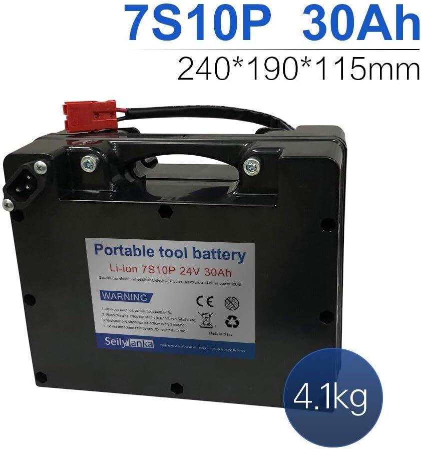 24V 30Ah 7S10P Li-ion batería dedicada a sillas de ruedas eléctricas Batería de plomo-ácido reemplazable 240 * 190 * 115mm