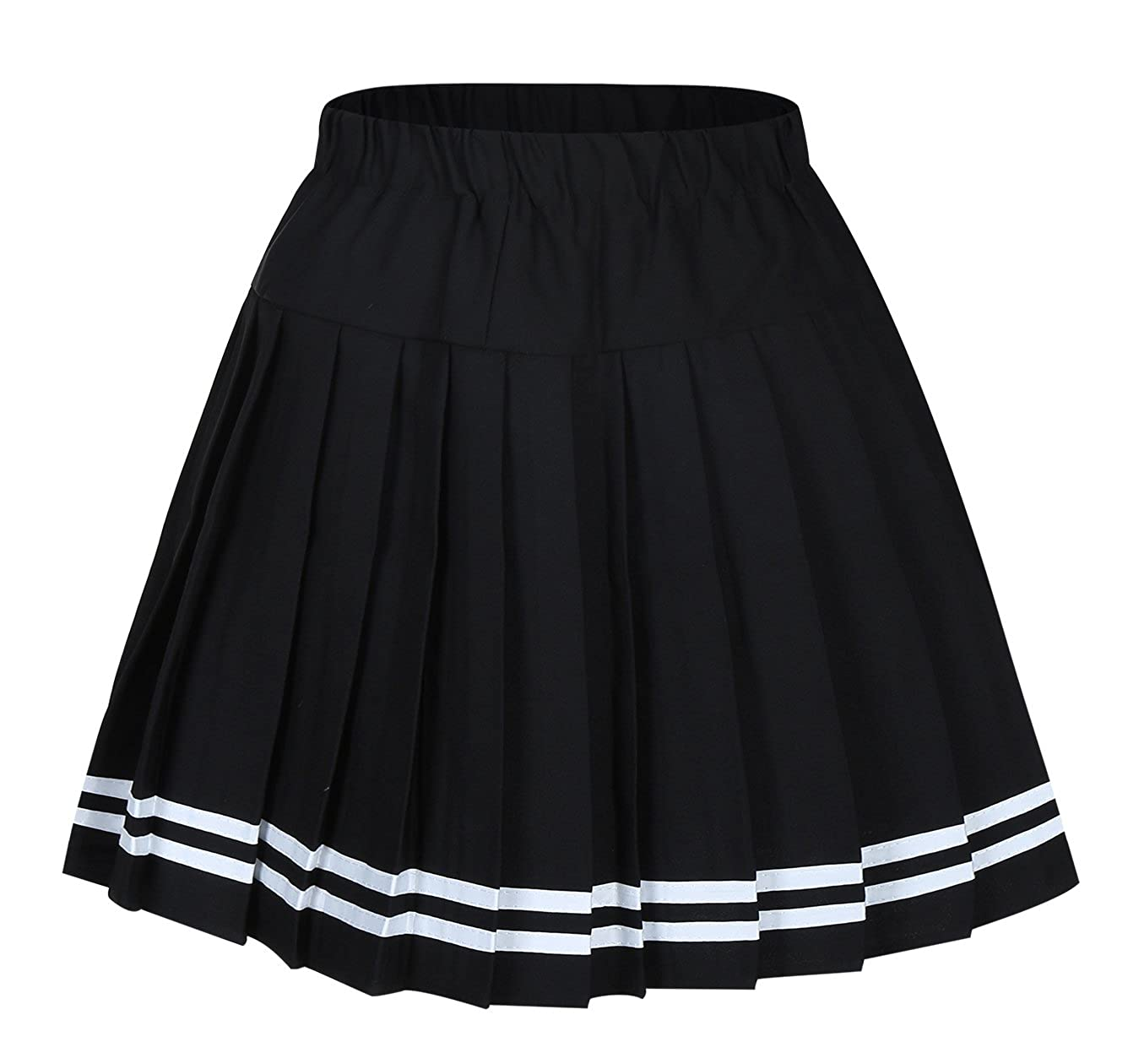 Genetic Los Angeles Women`s Short Plaid Elasticated Pleated Skirt School Uniform HTSK01
