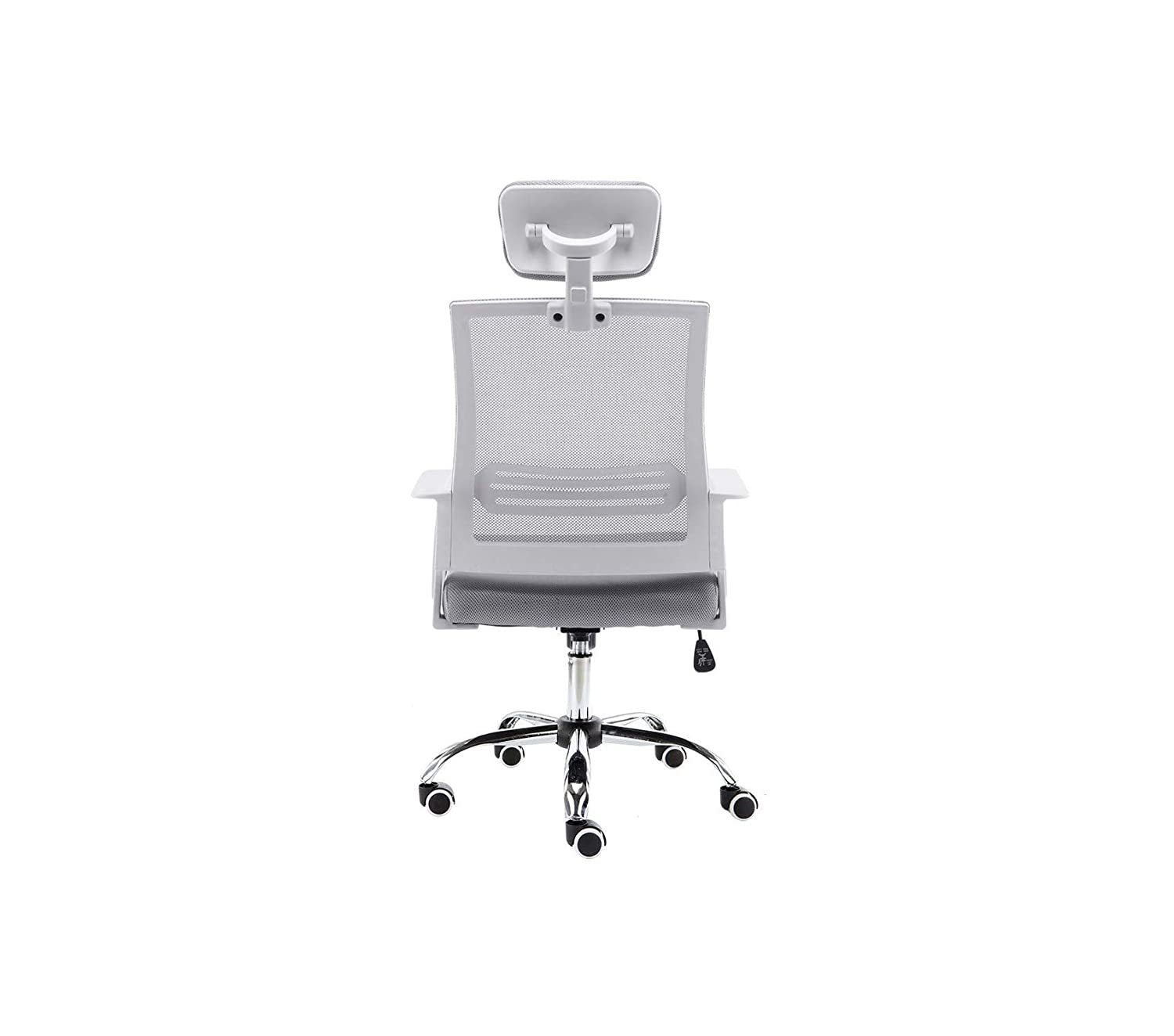 Back Office Chair White//Gray Decor Comfy Living Furniture Mоdеrnhоmе Deluxe Premium Collection Home WHGRAY Metro Mid