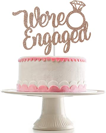 Engagement Party Decorations Engaged AF Cake Topper