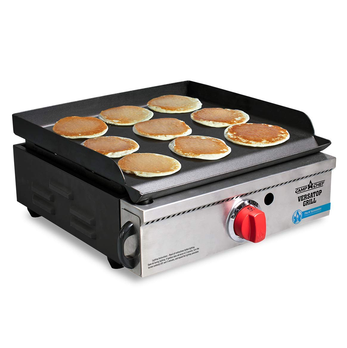 Camp Chef Versatop Portable Flat Top Grill 250 and Griddle (FTG250) - Compatible 14'' Accessories