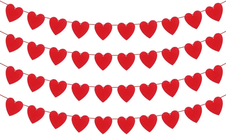 10 Tassel Red Valentine/'s Tissue Paper Garland ONLY 14.50 Birthday Party Decorations Love Valentine/'s Banner Red Hearts Decorations