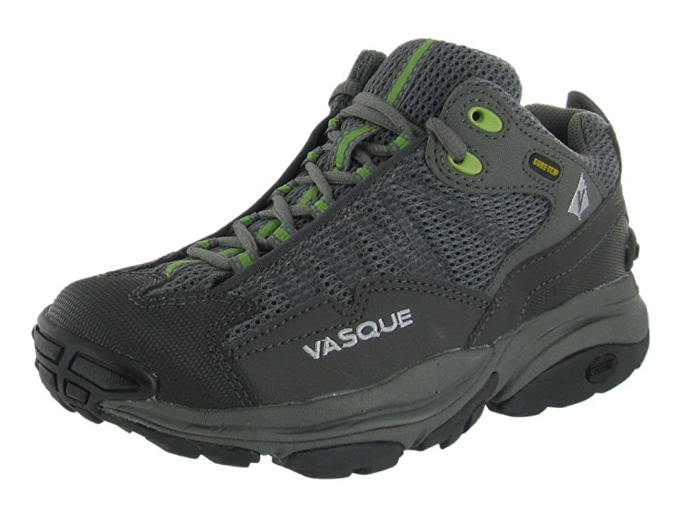 Vasque Womens 'Velocity GTX ST' Hiking Shoe, Gunmetal/Herbal Green, US 7
