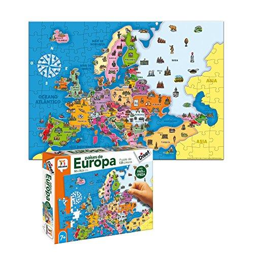 617owBrNGcL. SS500 Puzzle educativo de los países de Europa; una forma divertida de aprender la geografía europea y alguno de sus elementos culturales más característicos Cada país es una pieza, eso favorece el aprendizaje de cada país (con un color y forma diferentes)… y ayuda a entender el concepto de país y continente Desarrolla la capacidad de concentración y de relacionar; mejora la coordinación ojo-mano y la motricidad fina; mapa Actualizado