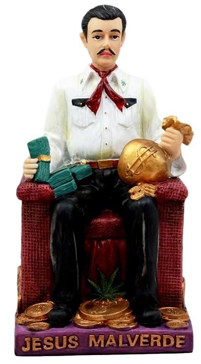 4a184c76e36 Atlantic Collectibles Jesus Malverde Statue Angel Of The Poor Sinaloa  Religious Figurine Mexico Decor 6.25 quot