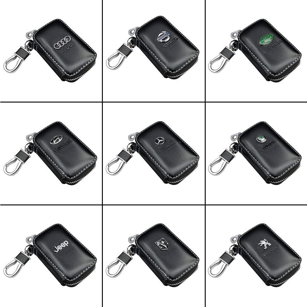 J.MOSUYA 2PCS Cuir v/éritable Mercedes Benz Porte-cl/és Accessoires Voiture Keychain