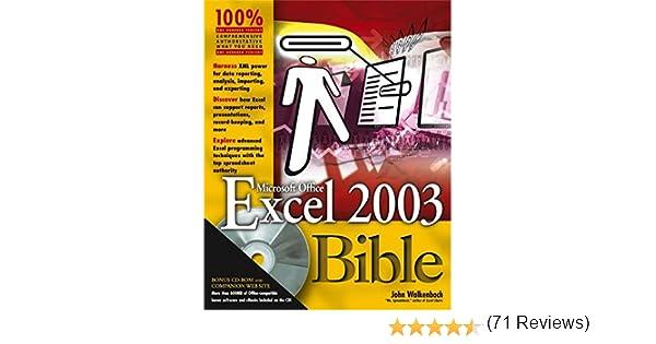 Excel 2003 Bible: John Walkenbach: 9780764539671: Amazon.com: Books