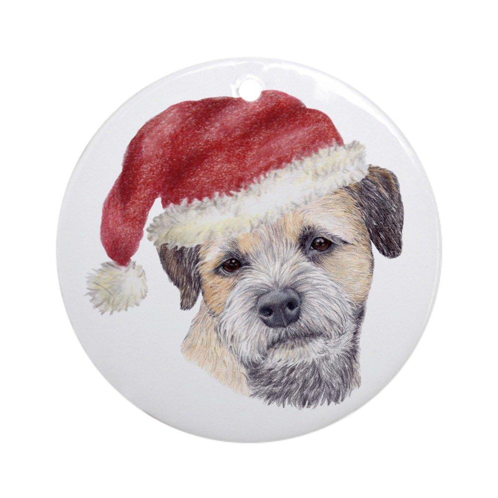 CafePress - Christmas Border Terrier Ornament (Round) - Round Holiday Christmas Ornament