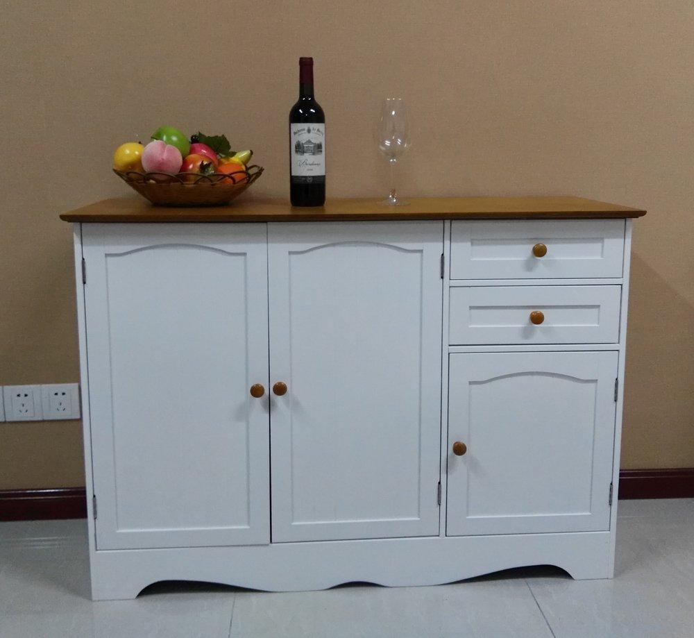 Homecharm-Intl 110x40x78CM Wooden storage cupboard cabinet sideboard ...