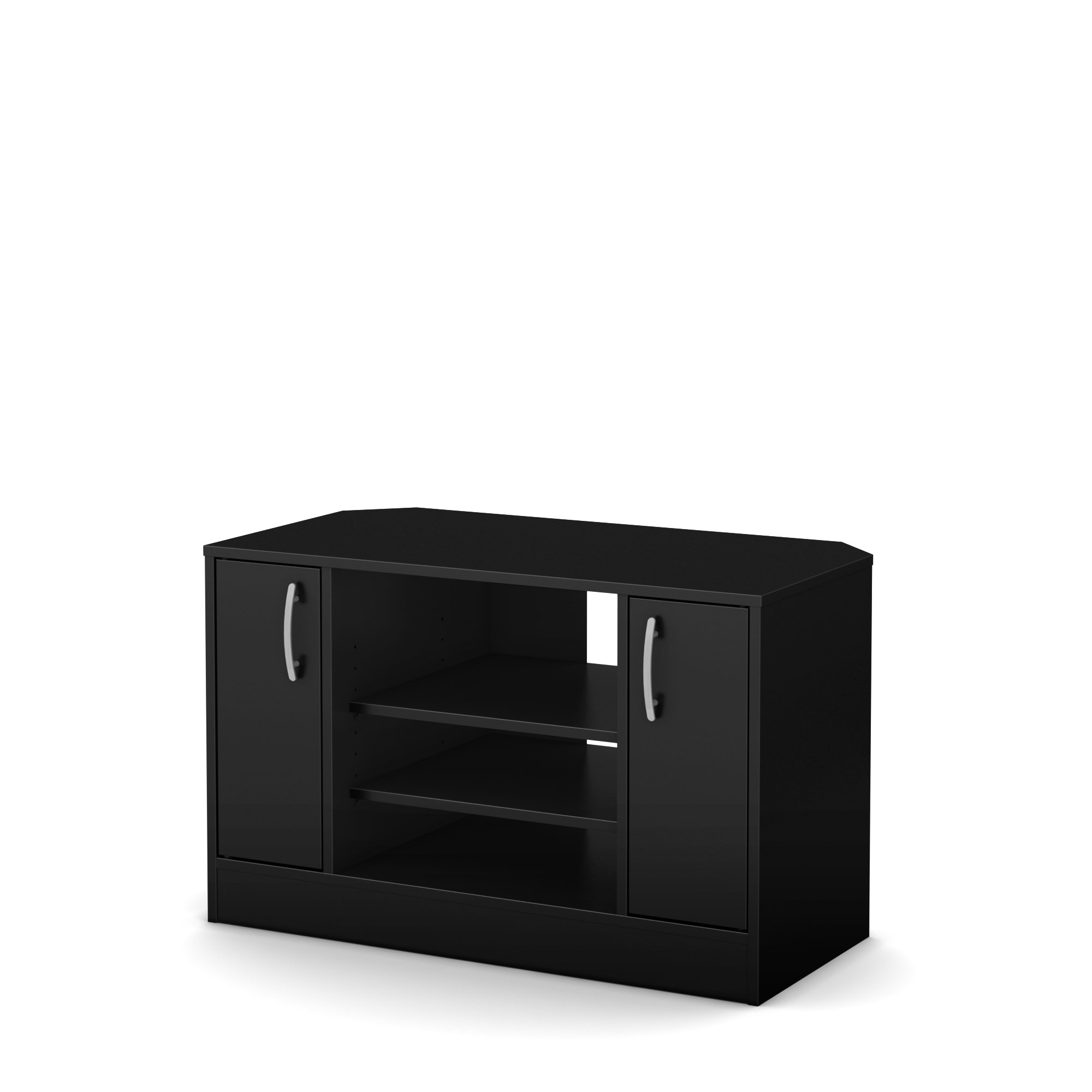 Axess Corner TV Stand - Fits TVs Up to 42'' Wide - Pure Black - by South Shore