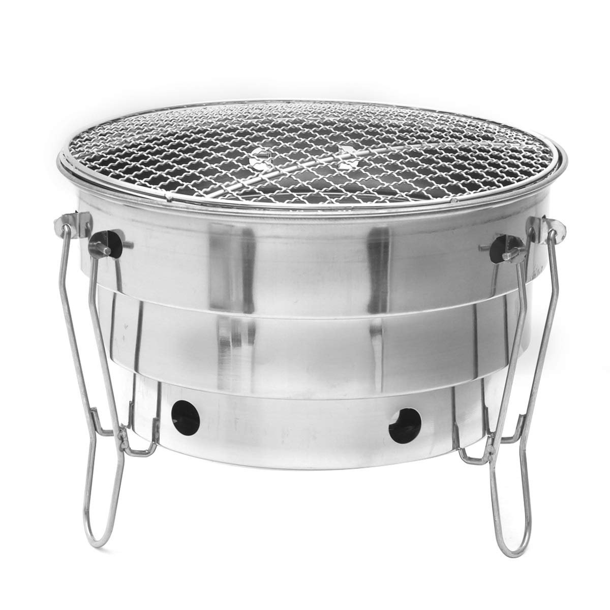 Stainless Steel BBQ Charcoal Grill Foldable Portable Cooking Outdoor Camping Burner Home Courtyard Furnace Family Reunion