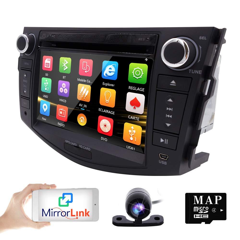 Hizpo In Dash Car Dvd Player Gps Navigation Radio Bt Toyota 20 Pin Stereo Wiring For Rav4 2006 2012 Reverse Camera Electronics