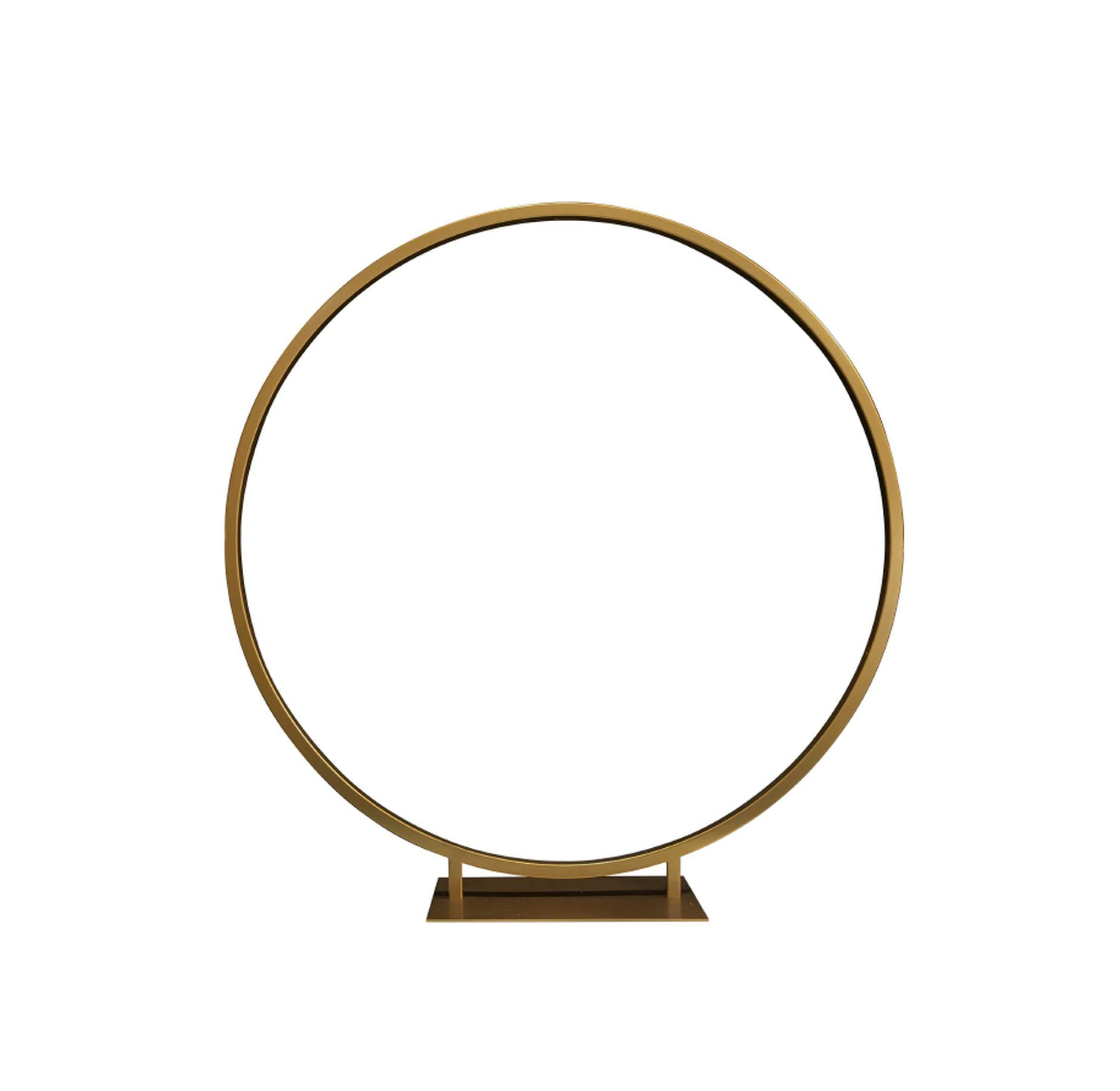 NA Romantic Wedding Flower Arch Gold Metal Stand 10Pcs/Lot for Wedding Centerpiece Decoration 24Inches Diameter,Gold by NA