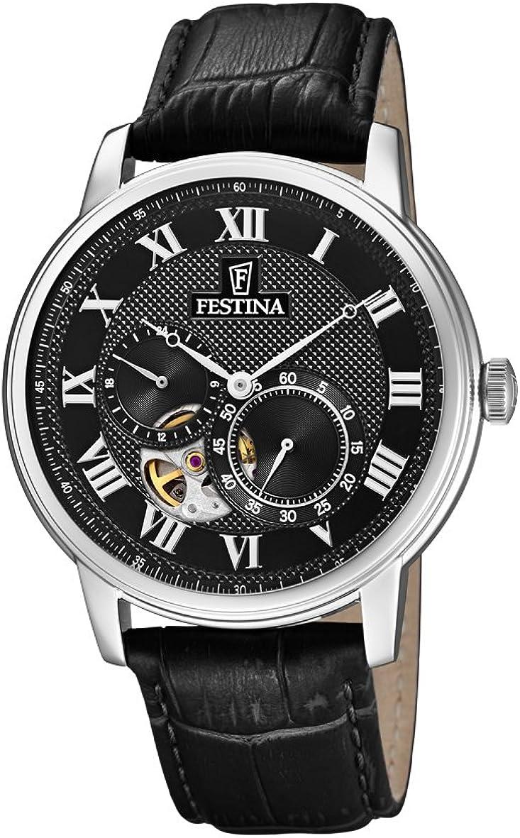 Festina Reloj Análogo clásico para Hombre de Automático con Correa en Cuero F6858/3
