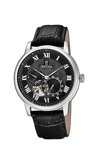 Festina Reloj Análogo clásico para Hombre de Automático con Correa en Cuero F6858/3: Festina: Amazon.es: Relojes
