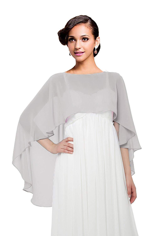 Wedding Capes Womens Soft Chiffon Shrug Bridal Long Shawl and Wraps