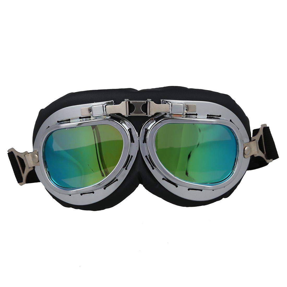 SODIAL(R) Gafas Lente Lens Tipo Aviador contra Viento UV para Moto Harley