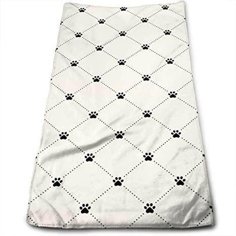 ewtretr Toallas De Mano, Animal Paw Print Microfiber Beach Towel Large & Oversized - 11.8""
