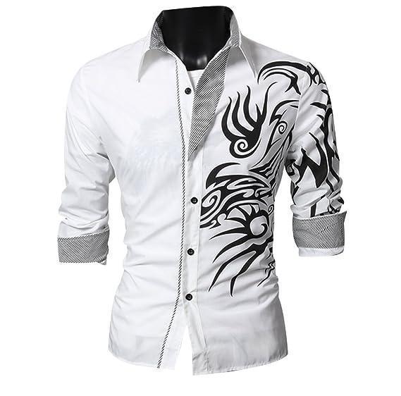 ISSHE Camisas Slim Fit Hombre Camisa Traje Básica Cuello Clásico ...