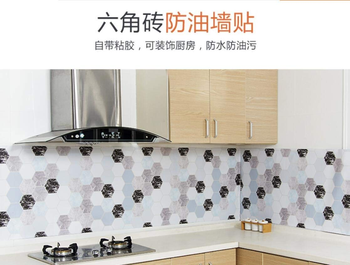Sweetstore Household Paper Gray Roll Kitchen countertop Cabinet Furniture is renovated Thick Waterproof PVC Easy to Remove Without Leaving Marks Upgrade (Grey, 6085.6cm) by Sweetstore Household (Image #4)
