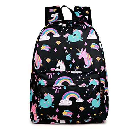 Purple Unicorn Violet Mist Toddler Backpack Waterproof School Book Bag