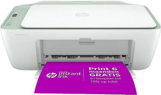 HP DeskJet 2724 All-in-One, Draadloze Wifi kleuren inktjet printer voor thuis (Printen, kopiëren, scannen) Inclusief 6 maanden Instant Ink