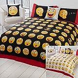 Just Contempo Emoji Icon Duvet Cover Set - Multi-coloured, Single