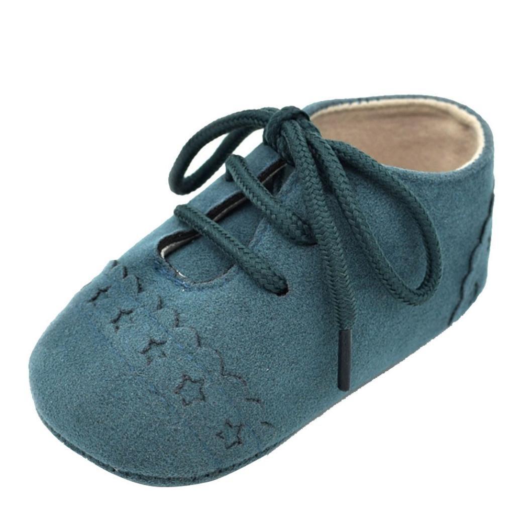 Amlaiworld_Primeros pasos Zapatos De Bebé, niño niña zapatillas de bebé antideslizante de encaje hasta zapatos