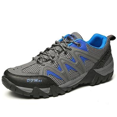 XI-GUA Unisex - Erwachsene Outdoorschuhe Hike Klassische Atmungsaktive Gemütlich Wanderhalbschuhe Grau 42 EU mSFT4nRw5