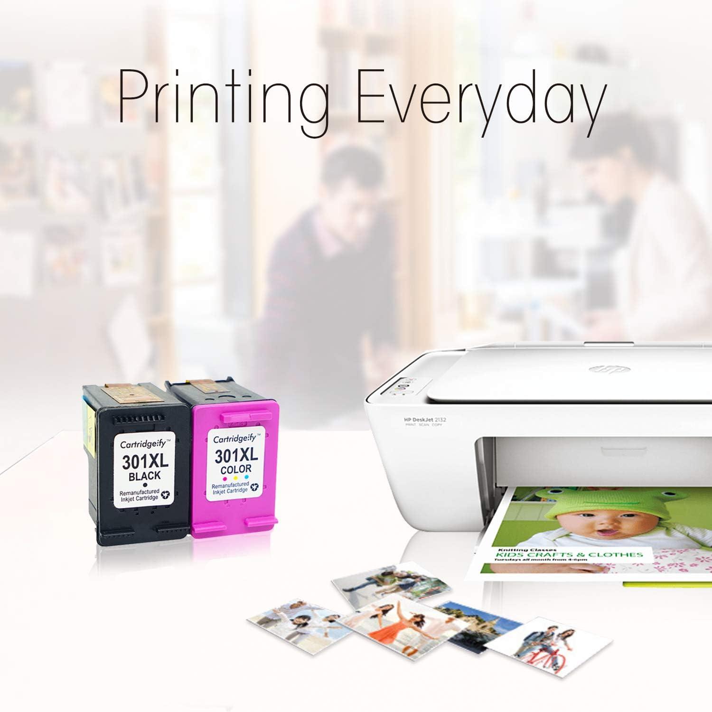 Cartridgeify 301XL Reemplazo HP 301 XL Cartuchos de Tinta Pack Ahorro, Compatible con HP DeskJet 1050a 1510 2050 2510 2540 OfficeJet 2620 4630 Envy 4500 4502 4507 ...